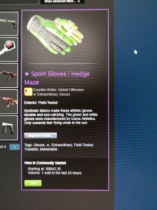 30% OFF STEAM MARKET (Sport Gloves Hedge Maze FT and Flip Knife Doppler P3 FN)
