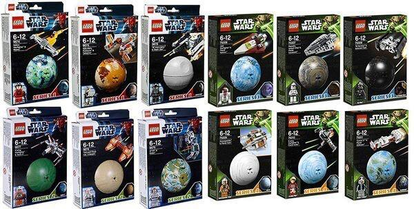 Lego Buildable Galaxy Collection Star Wars Series 1,2,3&4 - 9674,9675,9676,9677,9678,9679,75006,75007,75008,75009,75010,75011 共12盒