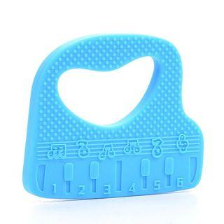 🚚 Blue piano silicone teether (free necklace attachment)