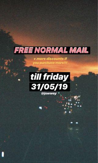 🚚 FREE NORMAL MAIL