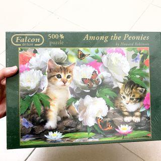 二手 拼圖 貓 貓咪 500pcs 500片 Puzzle