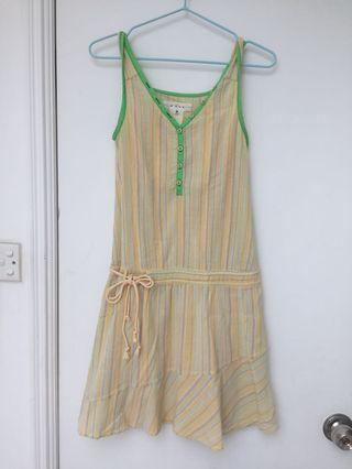 b + a b 黃綠色連身裙 Yellow Green Dress