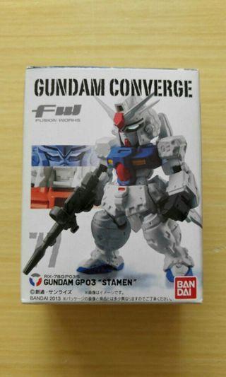 歡迎交換 全新 FW Gundam Converge 77 GP03 STAMEN 高達