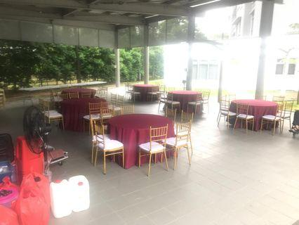 Table and chairs rental events