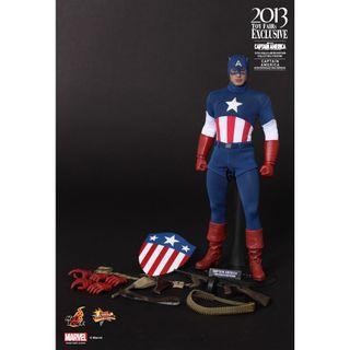 [ 全新未開封品 ] Hottoys Captain America 美國隊長 The First Avenger MMS205 戲服版 動漫限定 啡盒未開