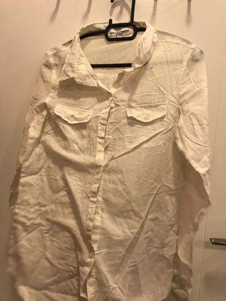 Cotton On White Long Sleeved Blouse