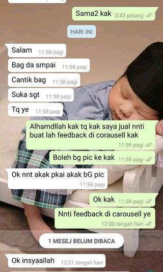 Feedback customer dari carousell deal Di whatsapp