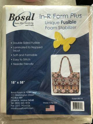 """Bosal R Form Foam Stabilizer Plus Fusible Double Sided 18""""x 58"""" White, 18"""" by 58"""""""