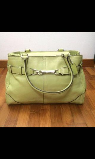 Authentic Coach Leather Bag Mint Green