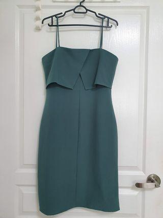 Editor's Market Midi Dress In Green