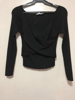 BNWOT Zara Knit Long Sleeve Top