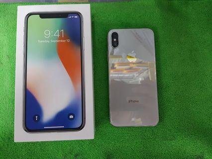 iPhone X 256GB Silver Globe locked smooth 91% batt life