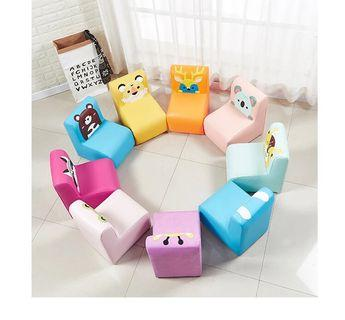 Kids Leather chair couch stool cartoon