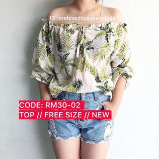 [SALE - FURTHER PRICE REDUCED] Floral Off Shoulder Top