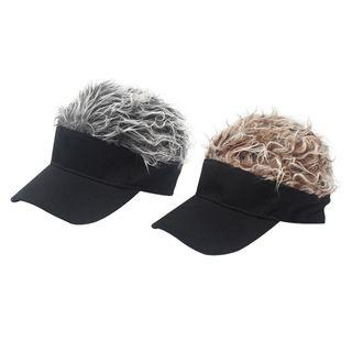 Sun Visor Golf Hat With Spiked Hairs