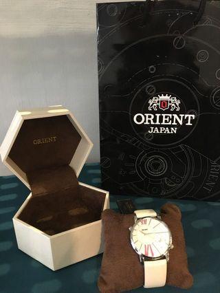 🚚 ORIENT 日本🇯🇵精品限量手錶 皮革白色