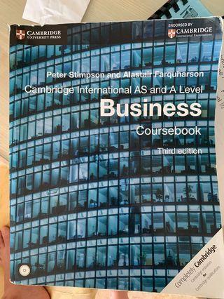 BUSINESS A LEVEL CAMBRIDGE COURSEBOOK