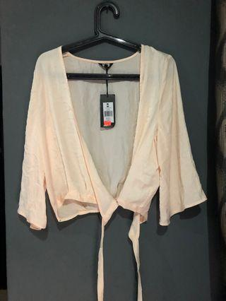 Silky wrap blouse