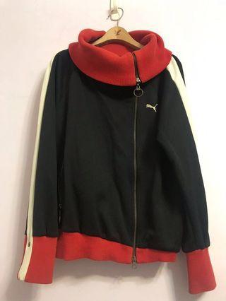 🚚 保留花西裝外套與[二手]PUMA翻領復古運動外套 帥氣紅黑白撞色