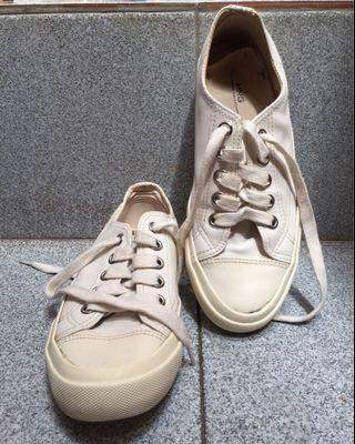 Mango white sneakers 37