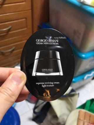 Giorgio Armani Crema Nera Extrema Supreme Reviving Cream Light Texture 1ml