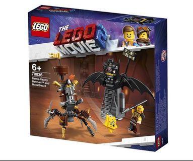 🚚 LEGO Movie 2 Battle-Ready Batman And Metalbeard 70836