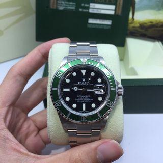 """Rolex Submariner """"Kermit"""" Ref 16610LV 50th Anniversary"""