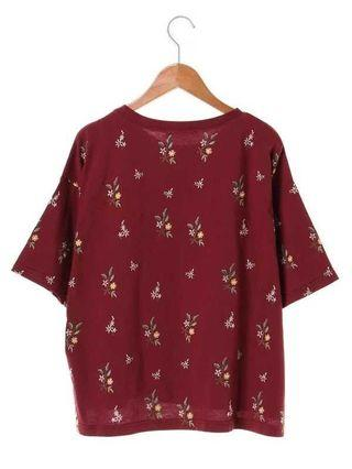 女裝純碎花上衣 T恤 紅色 綠色