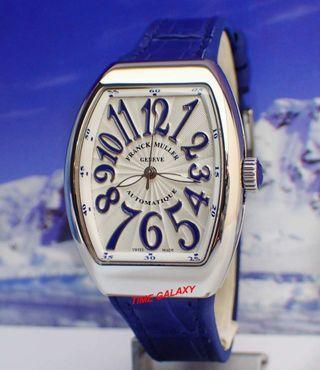 Franck Muller V32 Blue Leather Lady Watch