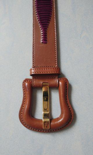 Fendi leather belt made in Italy