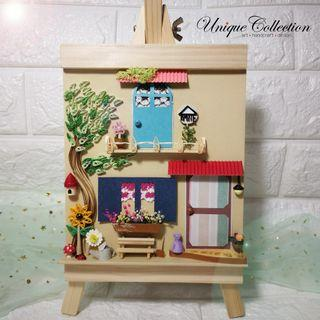 [PERSONALIZED GIFTS] 3D Paper Quilling Garden Panel