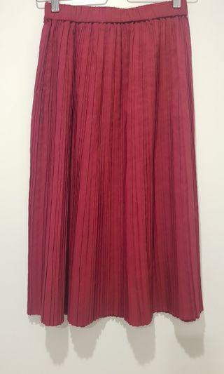 Gorman pink pleated skirt, size 8