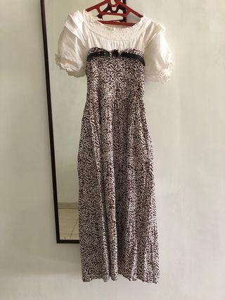 Long dress manis dan bahan melar