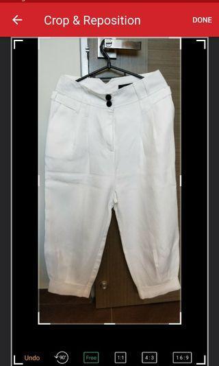Mango Suit - White Cropped Pants