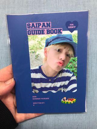 BTS V Saipan Booklet