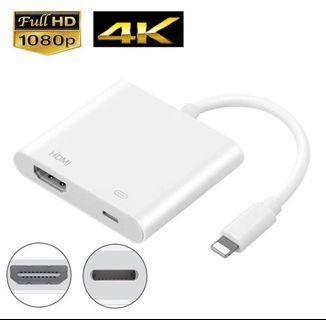 🚚 Mini Display Port To HDMI Adapter / Apple lighting cable HDMI / projector
