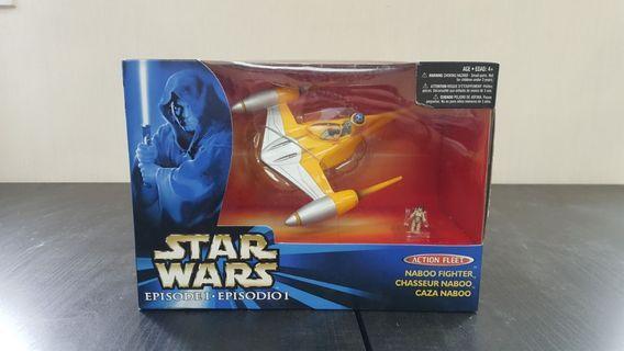 Hasbro Star Wars episode 1 Naboo fighter with Anakin Skywalker