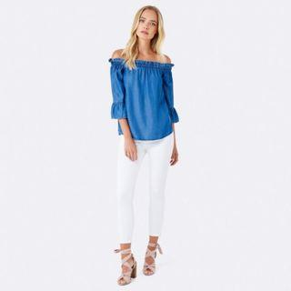 Forever New Pixie Paper Bag Ruffle Top