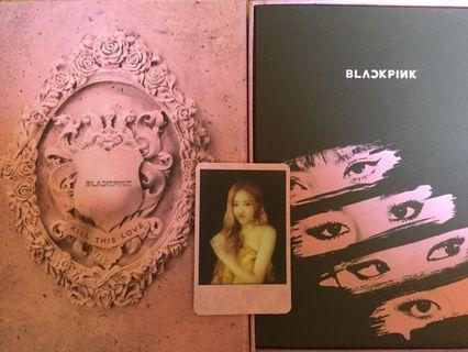 Blackpink Rosé KTL Album polaroid Pink Version