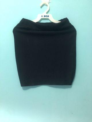 Rok Span Hitam (Mini Skirt)