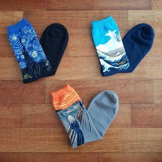 Oil Painting Socks Set