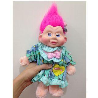 [大特價] 幸運小子(星星+愛心的嫩嫩娃)醜娃、巨魔娃娃、醜妞、Troll Doll、魔髮精靈、魔法精靈、布偶、生日禮物