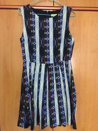 Avocado Pleated Dress