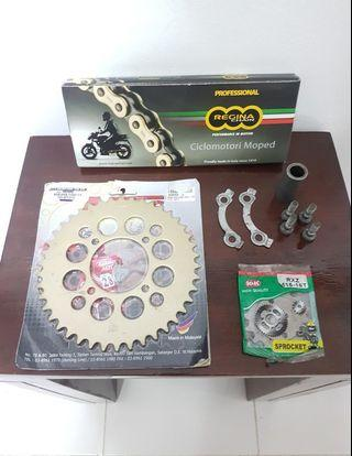 Rxz Sprocket Chain 415 set