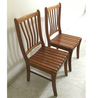 wts solid wood chairs [one pair for $50/ mint condition]
