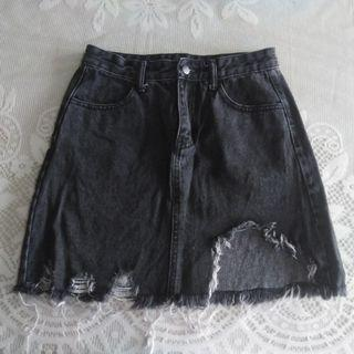 Korean highwaist denim skirt