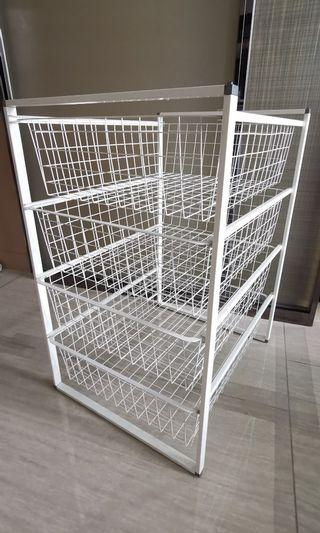 IKEA storage frame with 4 wire baskets
