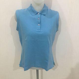 Kate Lord Blue Polo Sleeveless Top (Atasan Wanita)