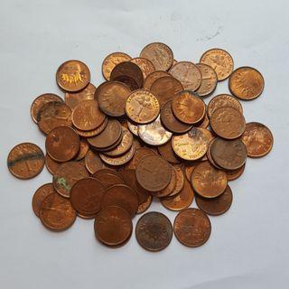Malaysia 1 Sen Coin Lot