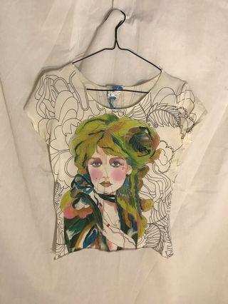 Zara Watercolor Tshirt #mauthr